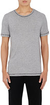 Barneys New York MEN'S MÉLANGE JERSEY T-SHIRT-BLUE SIZE S
