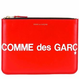 Comme des Garcons Zip-Up Logo Clutch Bag