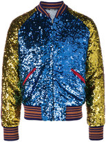 Gucci 'loved' sequin bomber jacket - men - Silk/Polyamide/Polyester/Alpaca - 48