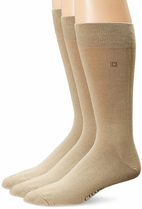 Chaps Men's Solid Rayon Blend Dress Crew Trouser Socks 3 Pair