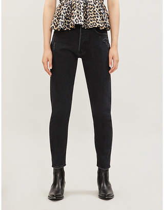 Selfridges Moussy Vintage Andrews ripped tapered high-rise jeans