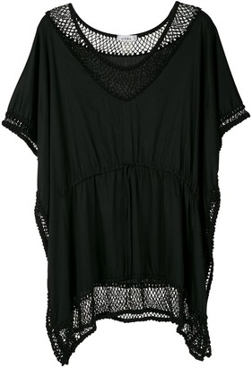 AMIR SLAMA Embroidered Short Dress