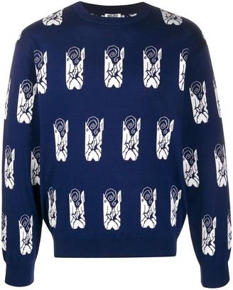 Kenzo Ikat intarsia sweatshirt