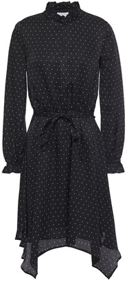 Claudie Pierlot Asymmetric Belted Jacquard Dress