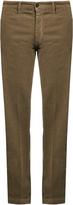 Massimo Alba Mid-rise slim-leg stretch-cotton trousers