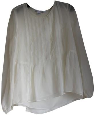Diane von Furstenberg White Silk Tops