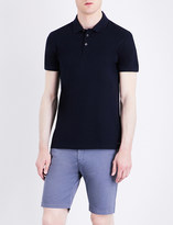 HUGO BOSS Slim-fit cotton-piqué polo shirt