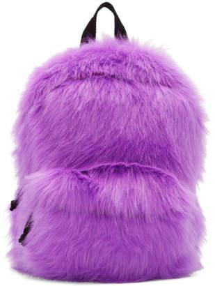 Vetements Purple Furry Backpack