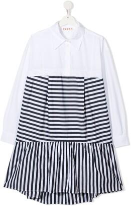 Marni TEEN striped shirt dress