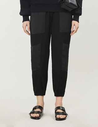 Me And Em Mid-rise tapered woven-twill trousers