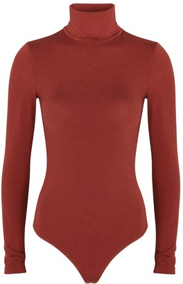 Wolford Colorado Burgundy Stretch-knit Bodysuit