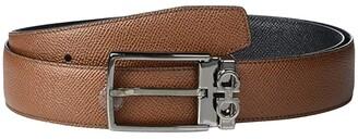 Salvatore Ferragamo Adjustable/Reversible Belt - 67A037 (Radica/Black) Men's Belts