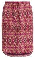 Ralph Lauren Ikat-Print Crepe Skirt Multi Xl