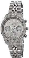 August Steiner Women's AS8103SS Swiss Quartz Multifunction Silver-tone Stainless Steel Bracelet Watch