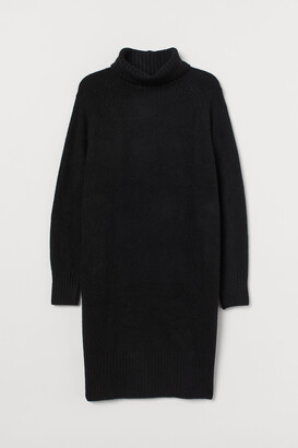 H&M H&M+ Knitted polo-neck dress