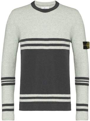 Stone Island striped crew-neck jumper