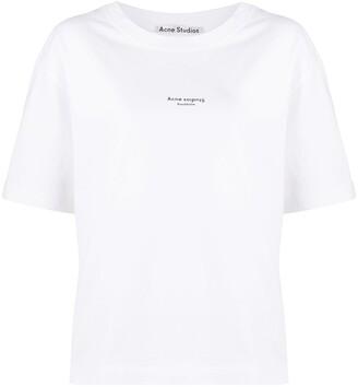 Acne Studios Reverse logo print T-shirt