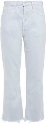 Mother The Hustler Distressed High-rise Kick-flare Jeans