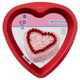 """Wilton 9"""" Non-Stick Heart Pan - Red"""