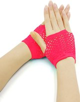 uxcell® Women Wrist Length Stretchy Fingerless Fishnet Gloves 2 Pairs