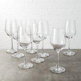 CB2 Set Of 8 Fulton White Wine Glasses