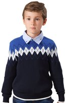 Leo&Lily Big Boys' Kids' Wool Blends Casual Pullover Sweater