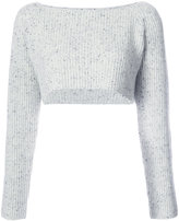 Baja East cropped ribbed jumper - women - Cashmere - 1