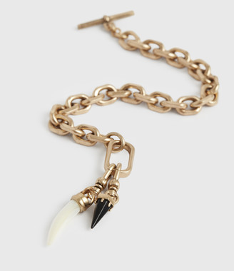 AllSaints Dallas Gold-Tone Mother Of Pearl Chain Bracelet