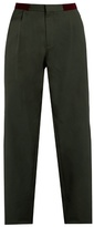 Kolor Pleat-front Straight-leg Cotton Trousers