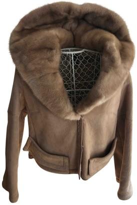 Christian Dior Beige Shearling Jacket for Women Vintage