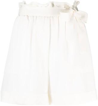 FEDERICA TOSI Tie-Fastened Silk Shorts