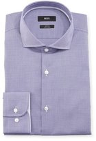 HUGO BOSS Jery Slim-Fit Micro-Check Dress Shirt, Purple
