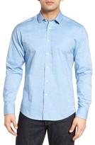 Vince Camuto Men's Trim Fit Dobby Dot Sport Shirt