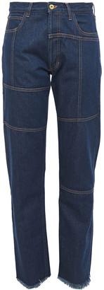 Marques Almeida High-rise Straight-leg Jeans