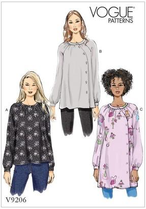 Vogue Women's Tunic Top Sewing Pattern, 9206