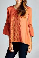 Andree by Unit Falling For Embroidery Top