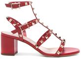 Valentino Rockstud Sandal in Red.