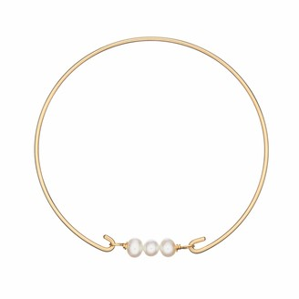 Lily & Roo Gold Cluster Pearl Bangle