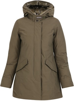 Woolrich Hooded Zip-Up Coat