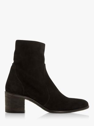 Dune Parsonns Block Heel Ankle Boots
