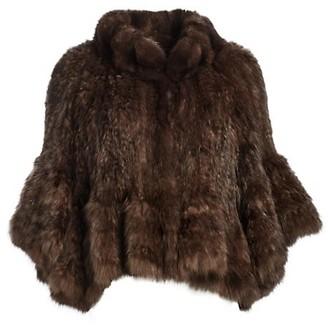 The Fur Salon Knit Sable Fur Cape