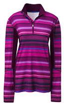 Lands' End Women's Active Half-zip Pullover-Pink Multi Stripe