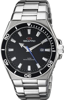 Seapro Men's SP8111 Storm Analog Display Quartz Silver Watch