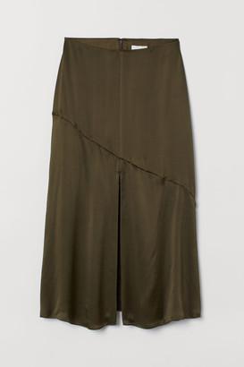 H&M Silk Skirt - Green