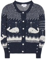 Thom Browne Knitted wool and mohair cardigan