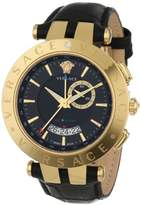 Versace Men's 29G70D009 S009 V-RACE Yellow Gold Ion-Plated Stainless Steel Watch