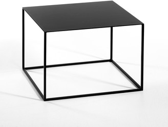 Am.pm. Romy Contemporary Square Side Table in Metal