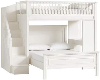 Pottery Barn Kids Fillmore Stair Loft Bed & Full Bed