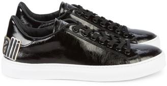 Roberto Cavalli Low-Top High-Shine Leather Sneakers