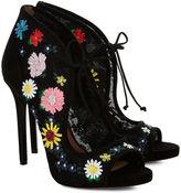 Tabitha Simmons Black Raffia Dusty Meadow Heels